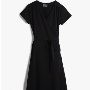 pact Organic Cotton Wrap Dress